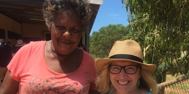 """Rosie Batty with Francine -- """"a courageous woman who lived through five years of horrific physical and emotional abuse""""."""