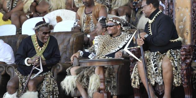 IFP leader and prince Mangosuthu Buthelezi, former KwaZulu-Natal premier Senzo Mchunu and King Goodwill Zwelithini.