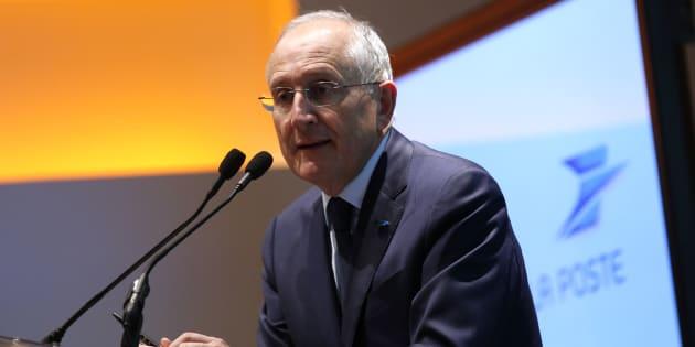 Philippe Wahl, PDG du groupe La Poste, lors de la présentation des résultats annuels 2015 à Paris, le 23 février 2016.