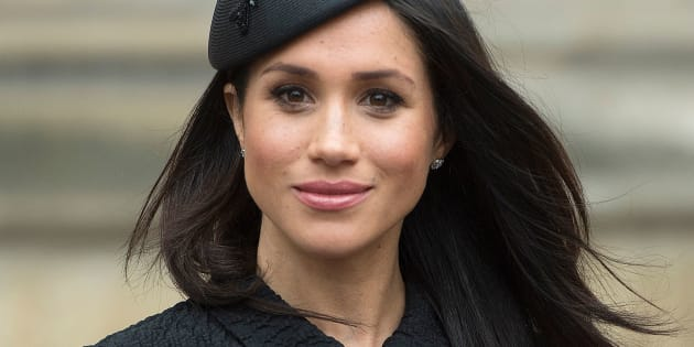 Meghan Markle, after attending a service of commemoration and thanksgiving to mark Anzac Day in Westminster Abbey in London on April 25, 2018.