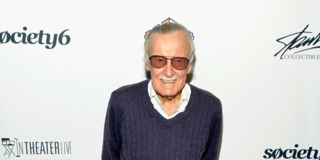 Stan Lee en 2017, à Los Angeles, à l'occasion d'une cérémonie organisée en son honneur.