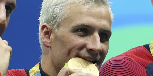 Ryan Lochte (ici en août 2016 à Rio), 16 fois champion du monde de natation, suspendu 14 mois pour dopage.