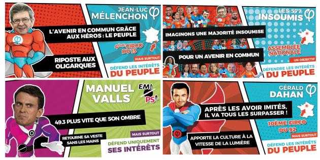 Sur les réseaux sociaux, le mouvement de Jean-Luc Mélenchon a grimé ses candidats en super-héros en vue des élections législatives.