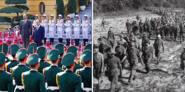 En visite au Vietnam, le premier ministre Édouard Philippe est le second dirigeant à se rendre sur le site historique de la bataille de Dien Bien Phu.
