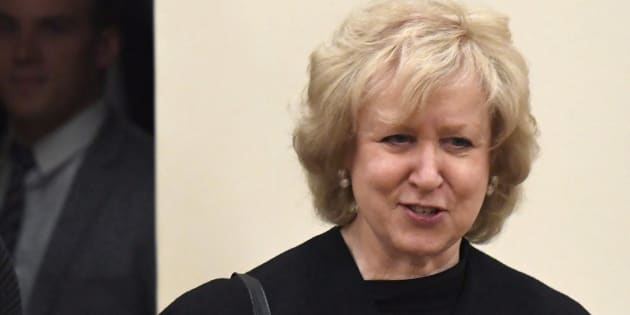 """Former prime minister Kim Campbell faced criticism online for saying sleeveless dresses are """"demeaning"""" to female news anchors on TV."""