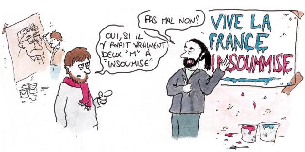 Infiltré en BD dans les équipes présidentielles: dans les marches militantes pour Jean-Luc Mélenchon et Emmanuel Macron.