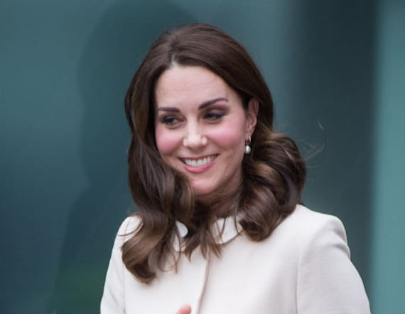 Duchess Kate dons 'recycled' Goat cream coat