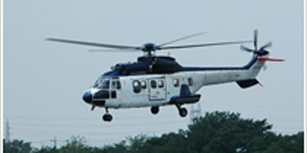 墜落したヘリと同型機のアエロスパシアル式AS332Lスーパーピューマ