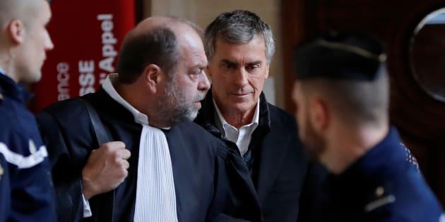 Le parquet requiert trois ans ferme contre Cahuzac, ici en présence de son avocat Eric Dupond-Moretti.
