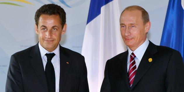 Nicolas Sarkozy et Vladimir Poutine en juin 2007 au sommet du G8