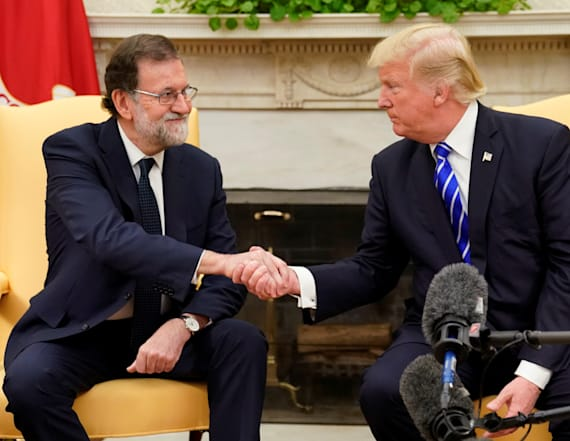 Watch Live: Trump holds conference with Spanish PM