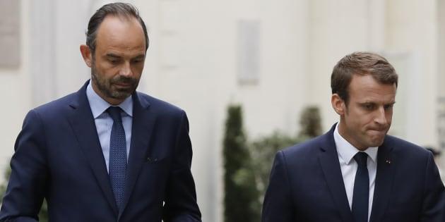 Edouard Philippe et Emmanuel Macron au ministère de l'Intérieur en septembre 2017