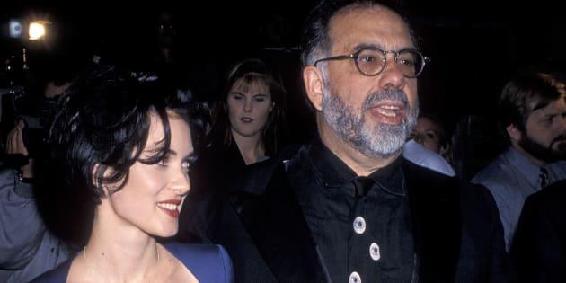 """Winona Ryder et Francis Ford Coppola à l'avant-première de """"Dracula"""" à Hollywood le 10 novembre 1992."""
