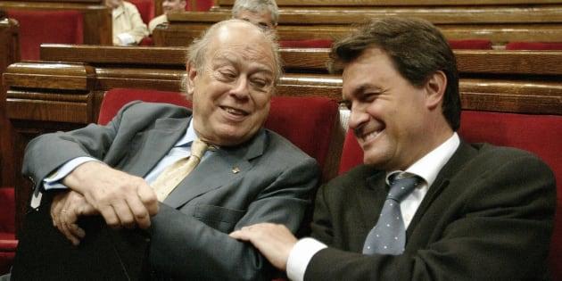 Jordi Pujol y Artur Mas en una imagen de 2003.