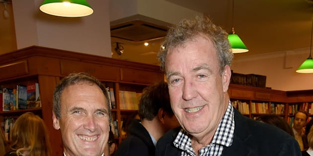 LONDON, ENGLAND - NOVEMBER 09:  A.A. Gill and Jeremy Clarkson attend the launch of A.A. Gill's new book 'Pour Me: A Life' at Daunt Books on November 9, 2015 in London, England.  (Photo by David M. Benett/Dave Benett/Getty Images)