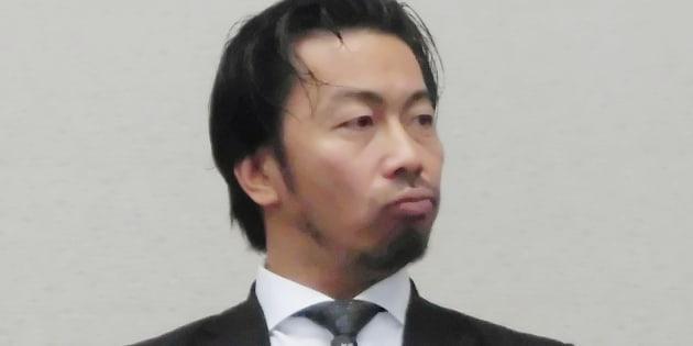 暴言の経緯を記者会見で説明する兵庫県西宮市の今村岳司市長=1月5日、同市