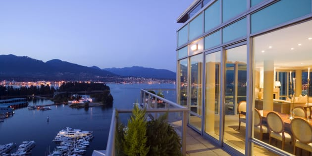 A penthouse apartment overlooking Coal Harbour in downtown Vancouver. Home sales in Vancouver were down more than 36 per cent in August, and the data suggests more weakness is ahead.