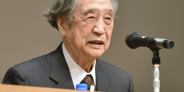 初代所長を務めた国際日本文化研究センターで講演する哲学者の梅原猛氏=京都市西京区 (2015年撮影)