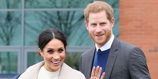 Prince Harry and Meghan Markle visit Belfast, Nothern Ireland on March 23, 2018.