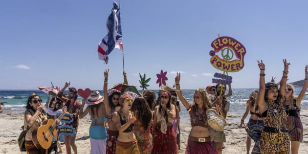 'Hippies' en Ibiza