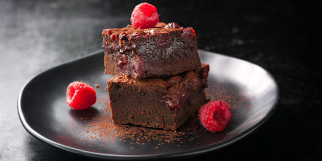 Hate to say it, but this brownie looks deliciously moist.