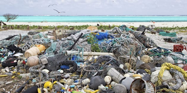 Plastic garbage collected from research plot to assess plastic pollution, Eastern Island, Midway Atoll National Wildlife Refuge, Northwest Hawaiian Islands