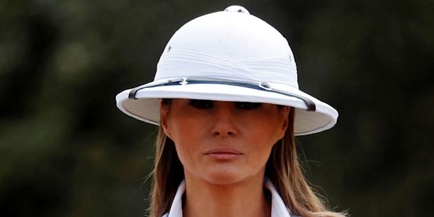 Au Kenya, Melania Trump se coiffe d'un casque colonial