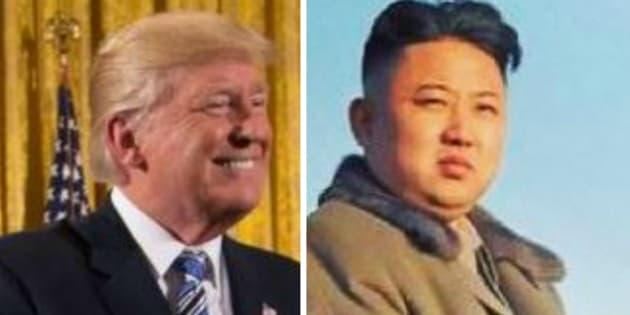 Donald trump avec les cheveux de kim jong un et inversement for Coupe de cheveux donald trump