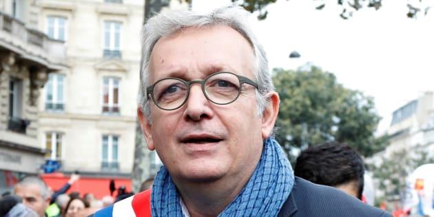 Pierre Laurent lors d'une manifestation à Paris en octobre 2017.