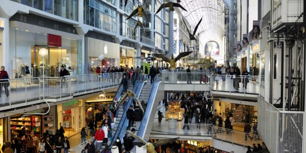 Shoppers in Toronto's Eaton Centre. The country's annual inflation rate rose to 2.5 per cent in June as consumer prices grew at their fastest pace in more than six years, Statistics Canada said
