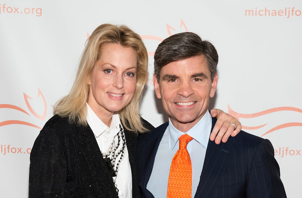 George Stephanopoulos con bello, Moglie Alexandra Wentworth