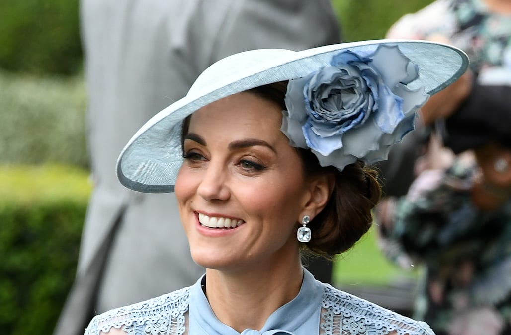 6496fd6226cd Kate Middleton dazzles in blue Elie Saab at the Royal Ascot - AOL ...