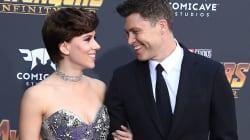 Scarlett Johansson en brune avec son compagnon (et plein d'autres stars) sur le tapis rouge de