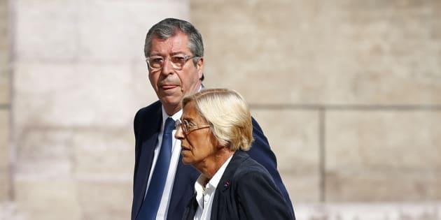 Patrick et Isabelle Balkany aux Invalides.