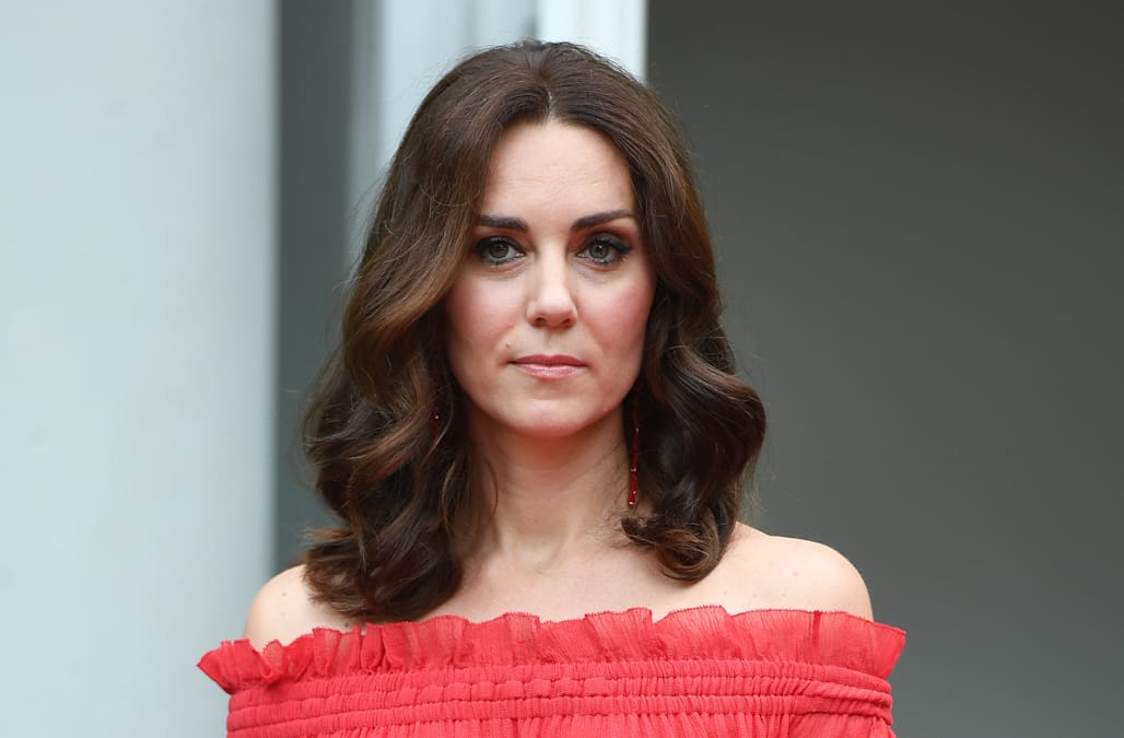 be519f8013c53 Kate Middleton looks radiant in red for her mother's birthday party ...