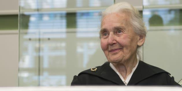 Ursula Haverbeck, el pasado octubre, durante el juicio.