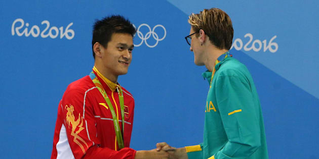 The controversy was started when Australian swimmer Mack Horton referred  China's Sun Yang a 'drug cheat.'