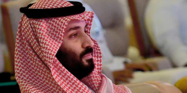 Mohammed ben Salmane lors du forum international sur l'investissement à Ryad le 24 octobre 2018.