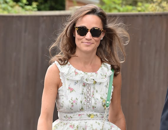 Pippa Middleton stays chic during a casual bike ride