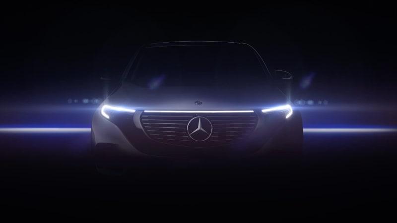 Mercedes benz eq c 39 mystic front 39 teaser autoblog for Mercedes benz mechanic