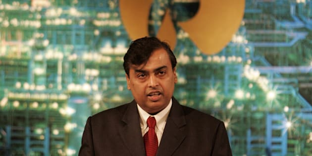 Mukesh Ambani Chairman Reliance Industries Ltd speaks during company's annual general meeting.