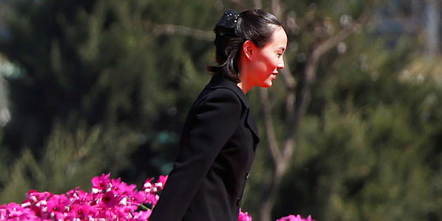 Kim Yo Jong, sister of North Korean leader Kim Jong Un, attends an opening ceremony of a newly constructed residential complex in Ryomyong Street in Pyongyang, North Korea, April 13, 2017.