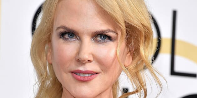 Nicole Kidman arrives at the 74th Annual Golden Globe Awards.