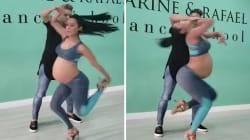 Cette femme enceinte qui fait la