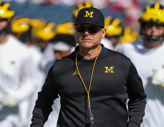 Jim Harbaugh marches in anti-brutality protest