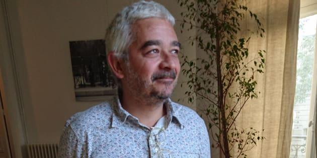 """Grégory Reibenberg, le patron de """"La Belle équipe"""", rue de Charonne dans le 11e arrondissement de Paris, café cible des attentats du 13-Novembre."""