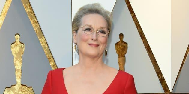 Meryl Streep à la 90ème cérémonie des Oscars le dimanche 4 mars 2018.