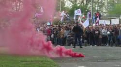 Marion Maréchal-Le Pen, accueillie par des fumigènes et des casseroles à