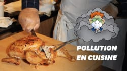 Après la cuisson d'un rôti, la pollution de votre cuisine est la même qu'à New