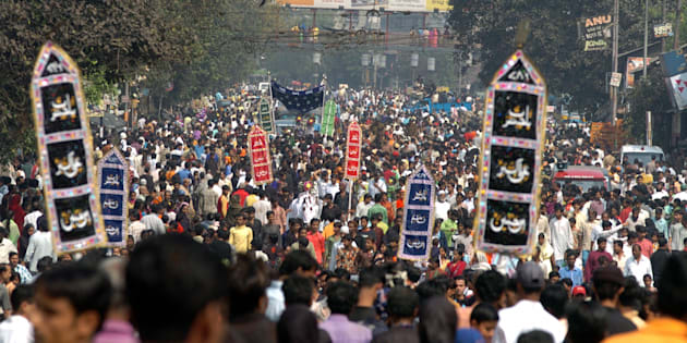 Thousands of Indian Muslim takes part in the religious procession on the tenth day of the holy month of Muharram in Kolkata.